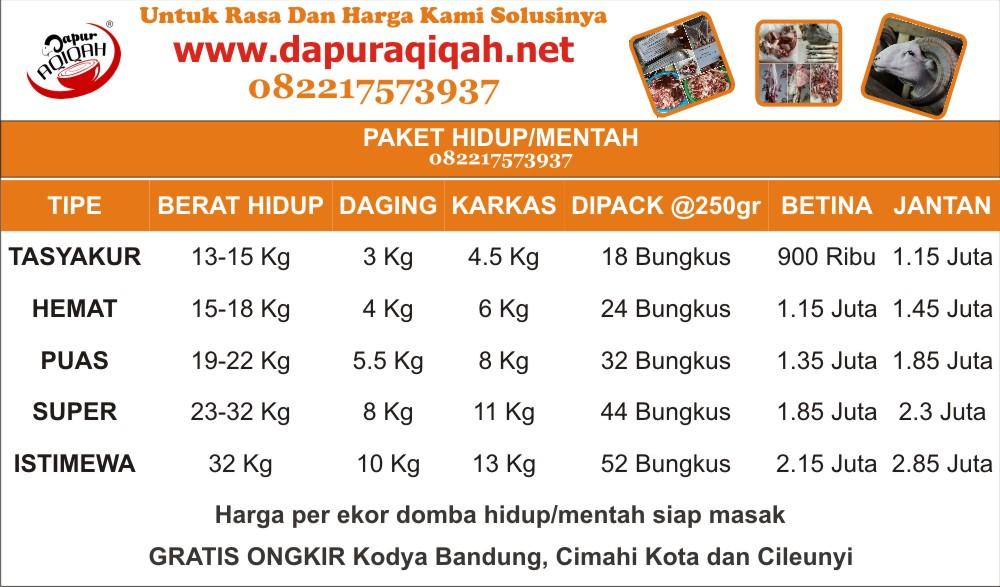 Paket kambing akikah Bandung