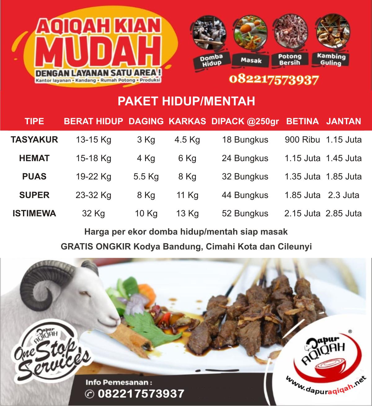 Aqiqah murah di Bandung Cimahi
