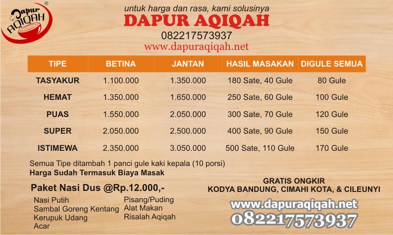 harga paket aqiqah murah Bandung